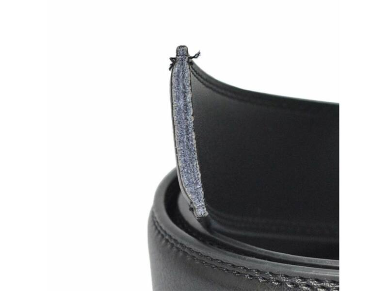 3cm-es rostbőr nadrágszíj automata övcsathoz - fekete
