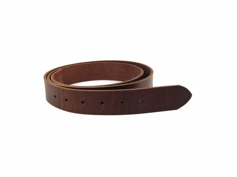 3.5cm-es bőr szíj nadrághoz - barna