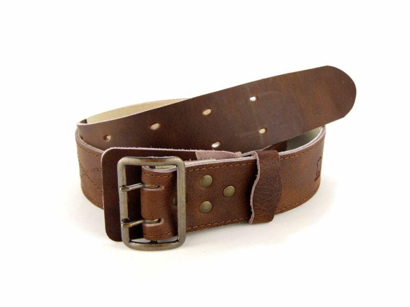 5cm széles bőr öv - barna antantszíj XXL 160cm-ig | A01