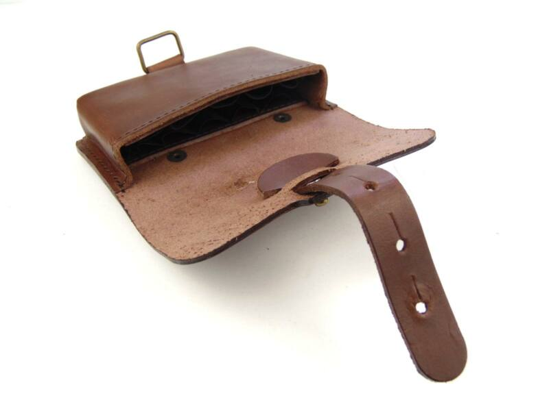 Vadász Ajándékok: 10db-os tölténytartó bőr övvel - barna   HCU24-38