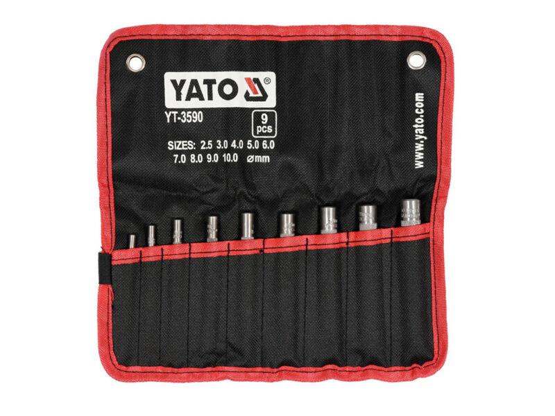 Yato Bőrlyukasztó készlet - 9 részes