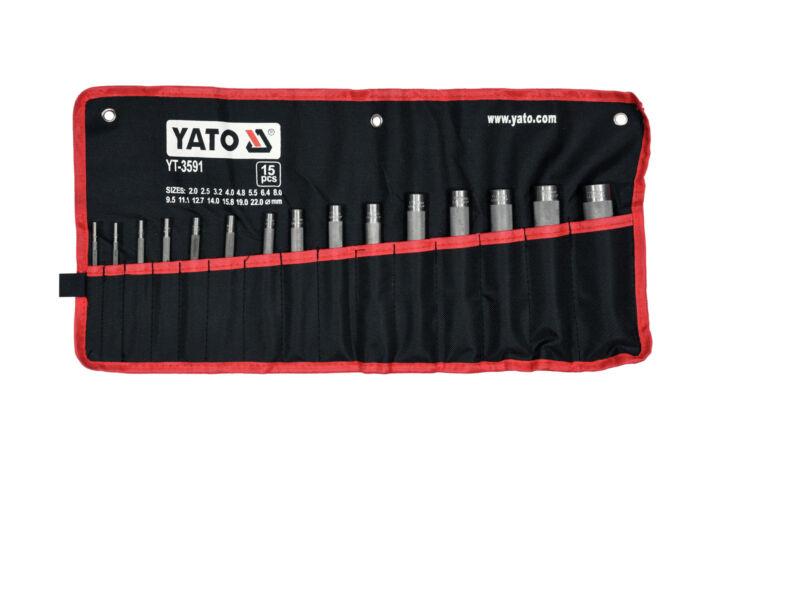 Yato Bőrlyukasztó készlet - 15 részes