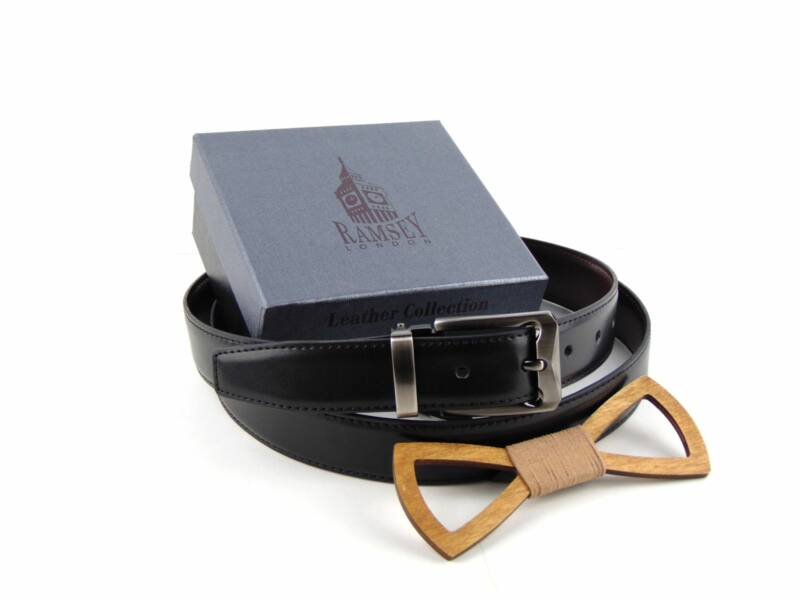 Meglepetés férfiaknak - Fa csokornyakkendő & öltöny öv csomagban | ZS005-R001