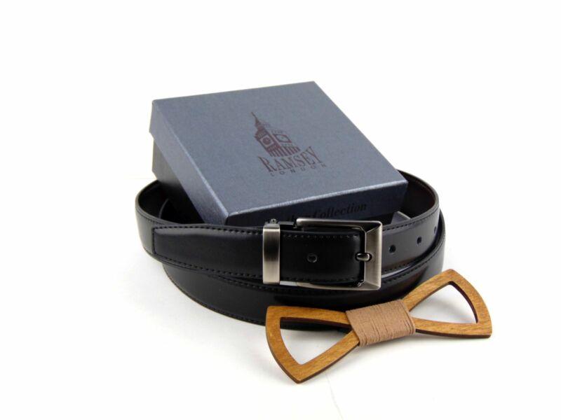 Meglepetés férfiaknak - Fa csokornyakkendő & öltöny öv csomagban | ZS005-YD003